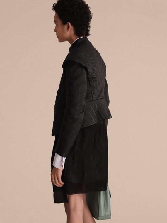Quilted Lambskin Military-inspired Jacket - cell image 2