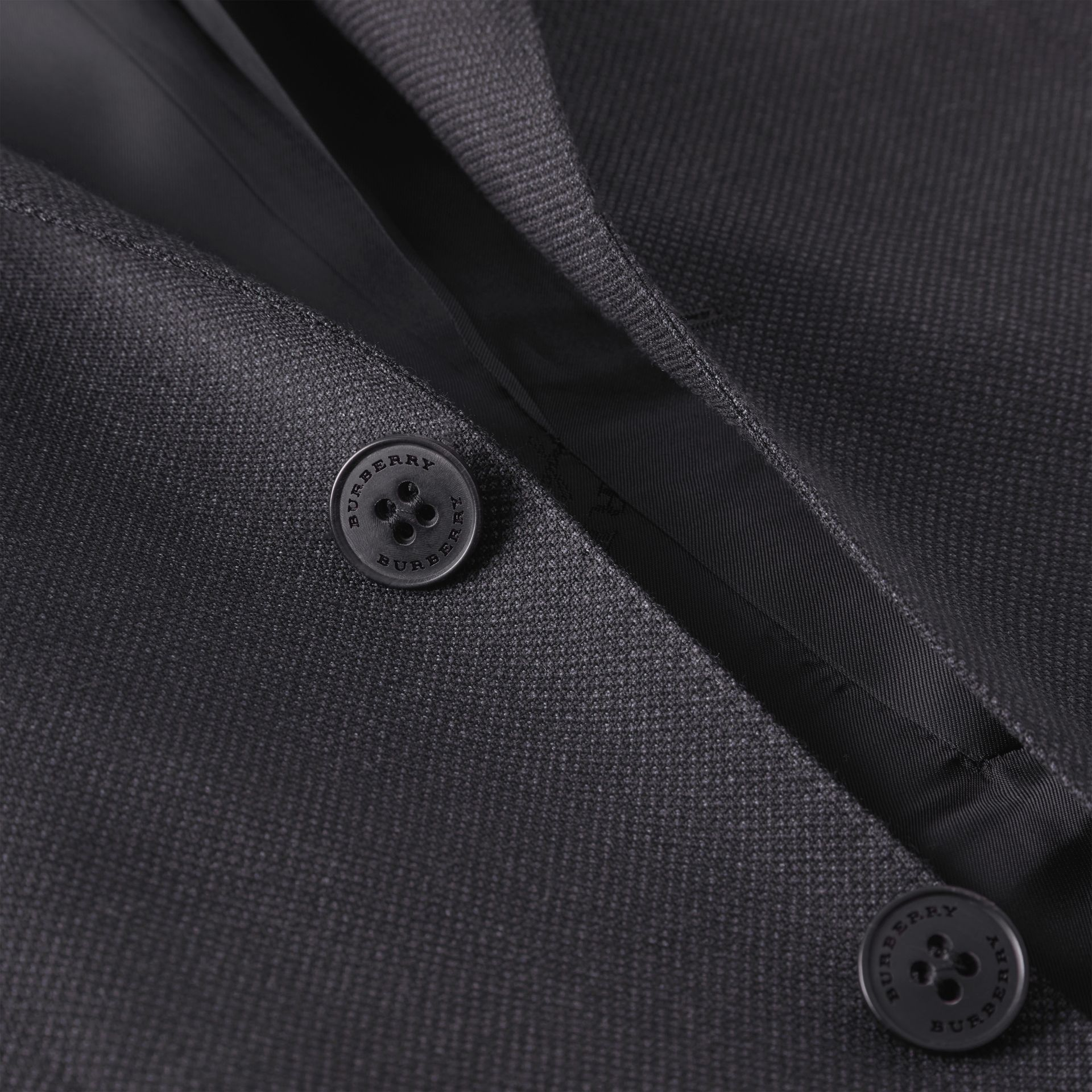 Slim Fit Birdseye Wool Suit in Navy - Men | Burberry United Kingdom - gallery image 9