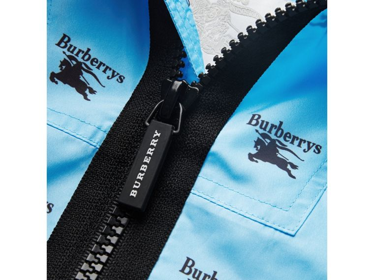 Archive Logo Print Lightweight Hooded Jacket in Sky Blue - Boy | Burberry - cell image 1