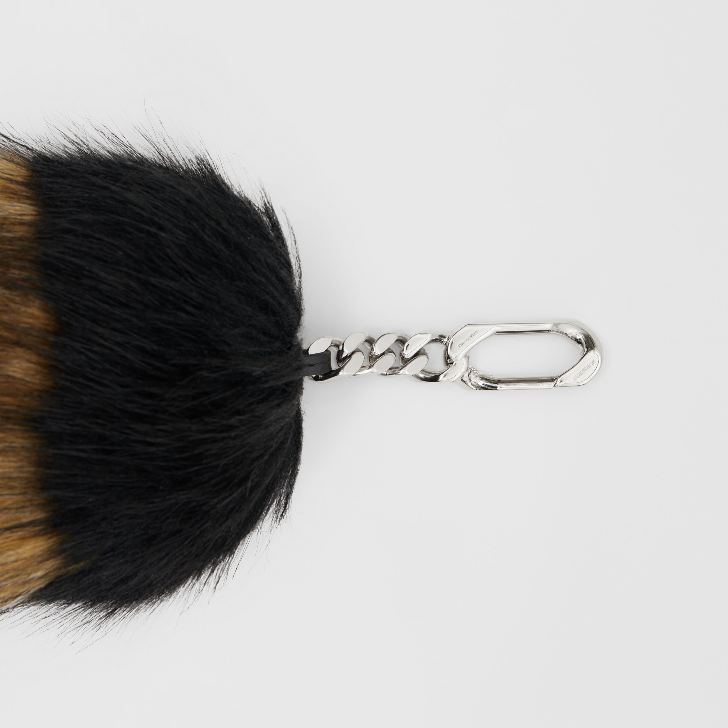 Striped Faux Fur Tail Charm in Brown | Burberry Singapore - 2