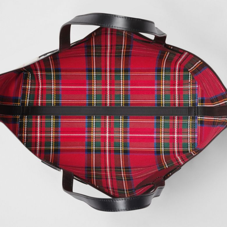 Burberry - Sac tote The Giant moyen en Vintage check - 6