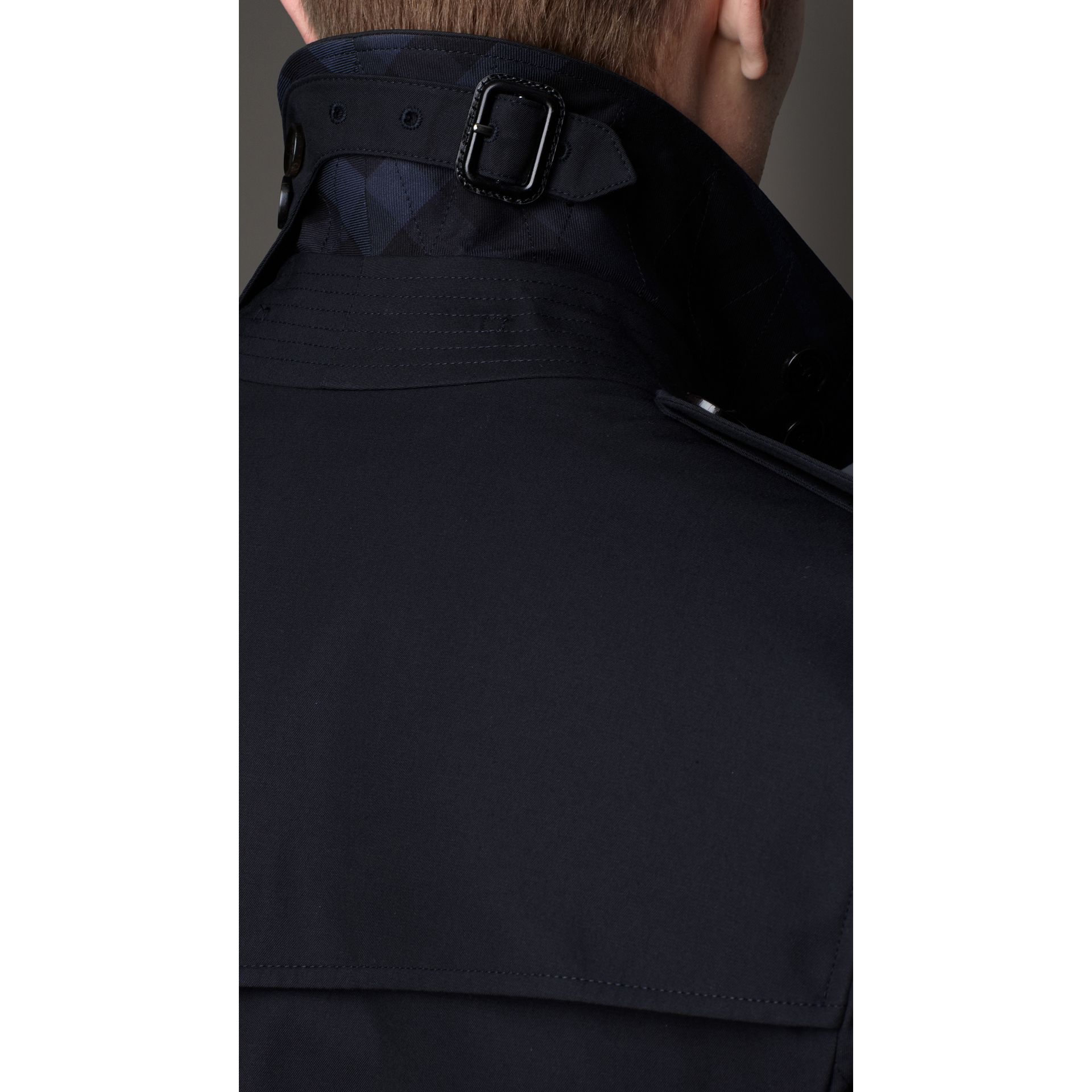 Cotton Gabardine Trench Coat in Navy - gallery image 3