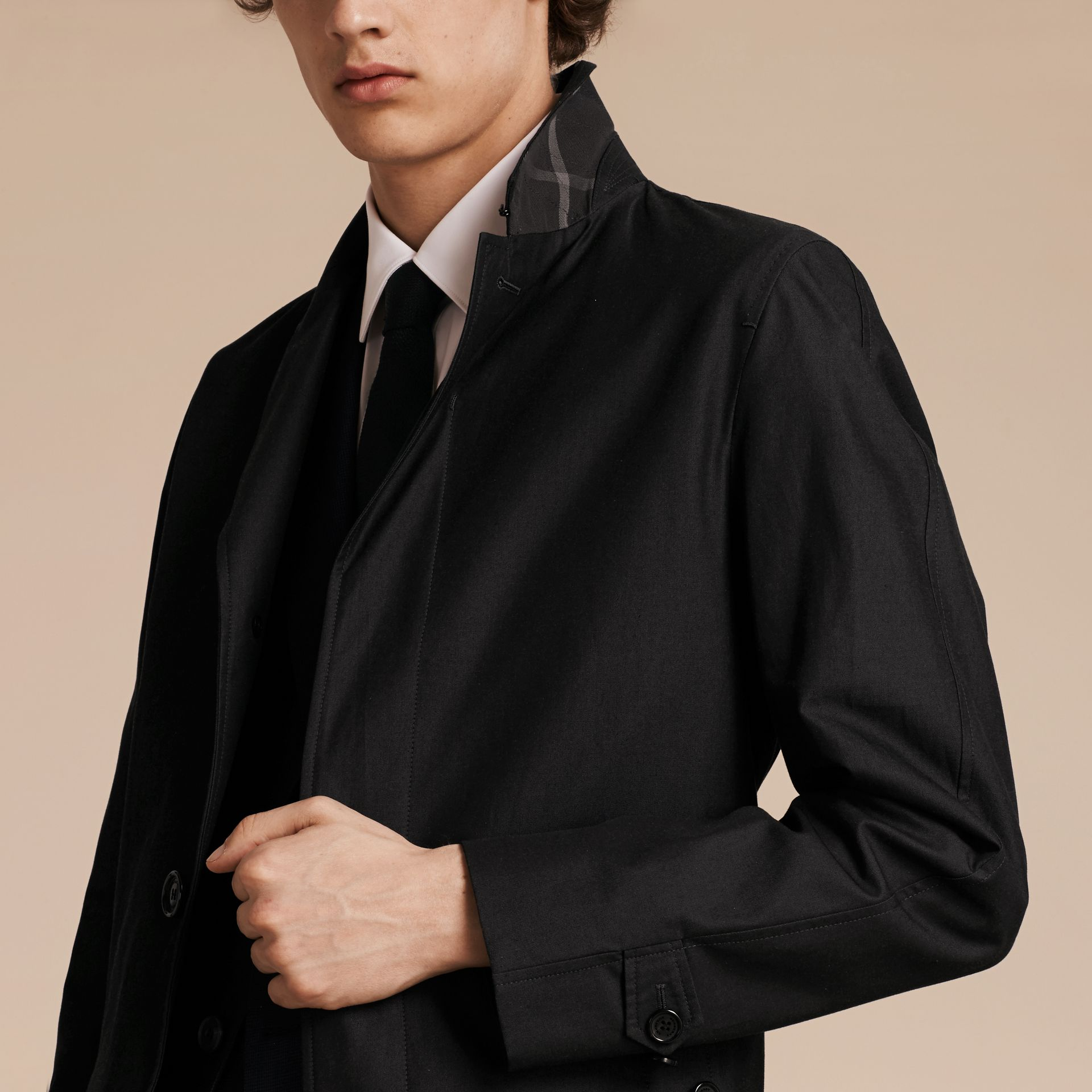 Mercury Cotton Gabardine Car Coat - gallery image 6
