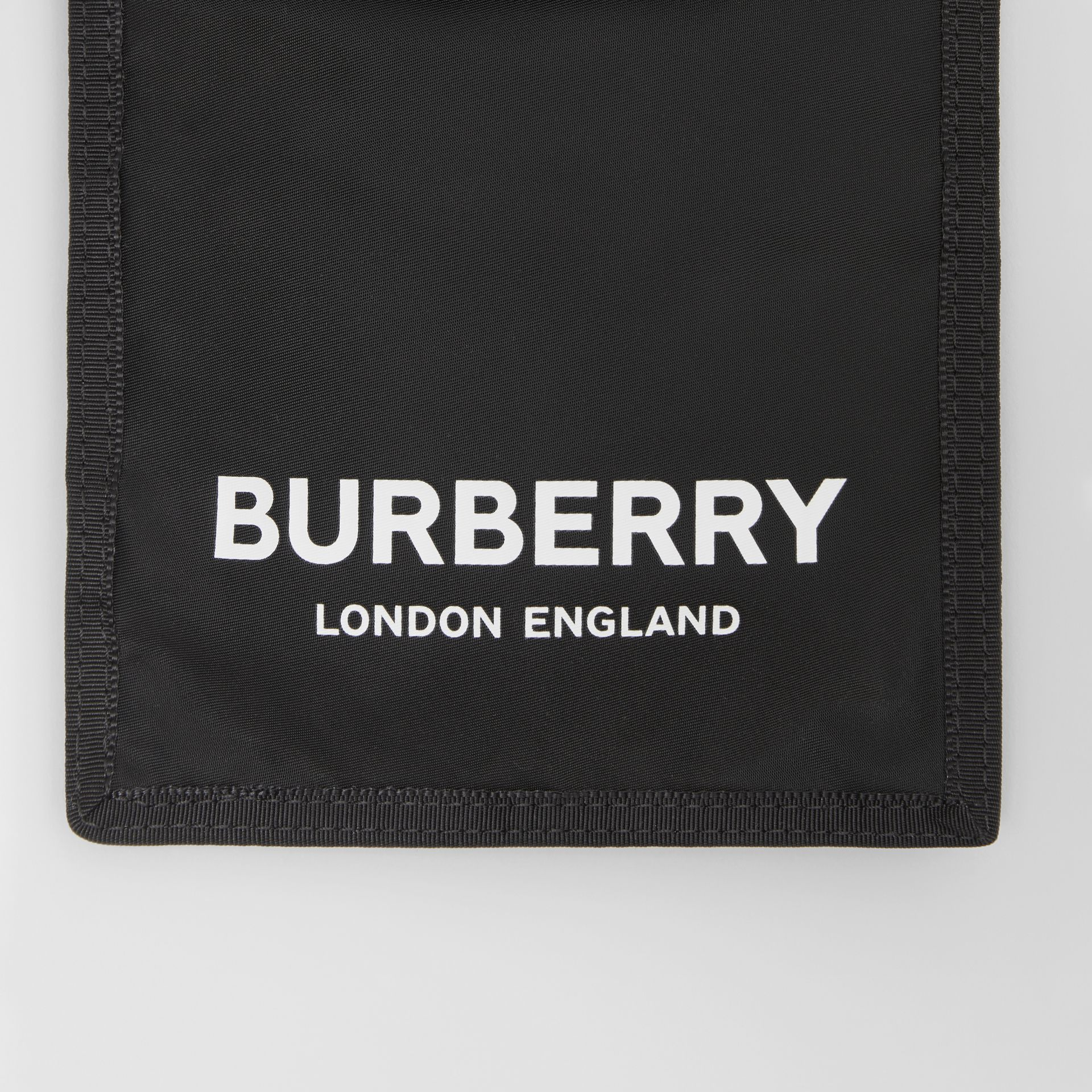 Logo Print Nylon Phone Case Lanyard in Black/white - Men | Burberry - gallery image 1