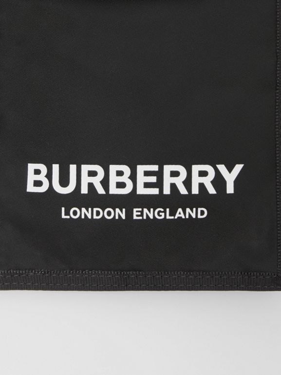 Logo Print Nylon Phone Case Lanyard in Black/white - Men | Burberry - cell image 1