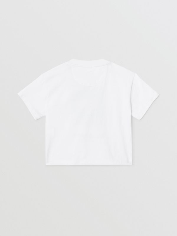 Polaroid Print Cotton T-shirt in White - Children | Burberry - cell image 3