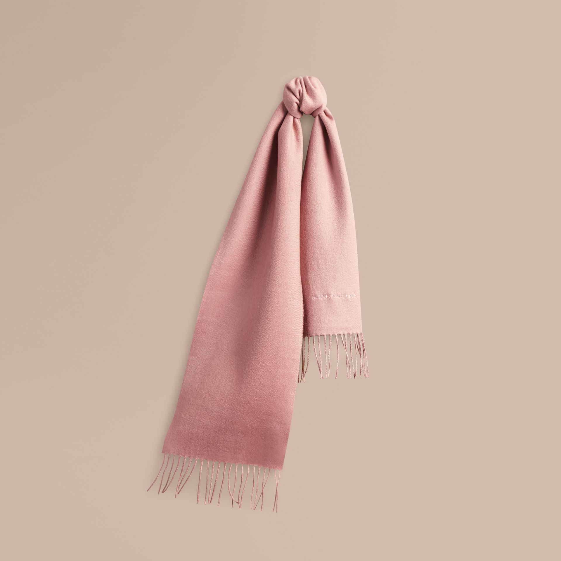The Mini Classic Cashmere Scarf in Ash Rose - Girl | Burberry - gallery image 5