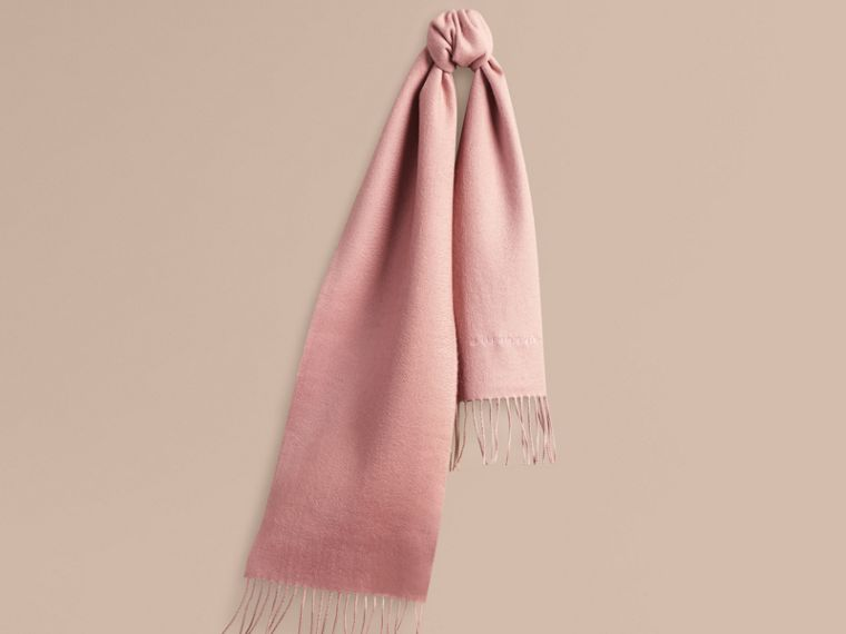 The Mini Classic Cashmere Scarf in Ash Rose - cell image 4