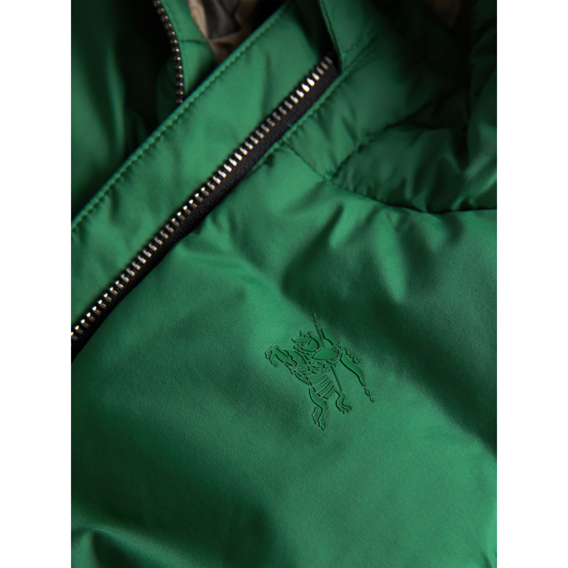 Down-filled Hooded Puffer Jacket in Pigment Green | Burberry - gallery image 1