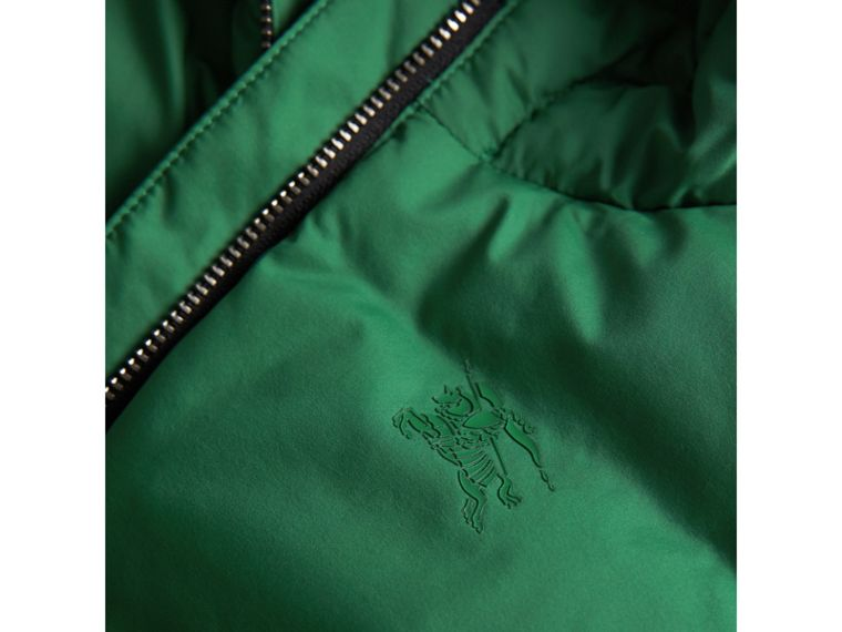 Down-filled Hooded Puffer Jacket in Pigment Green | Burberry Australia - cell image 1