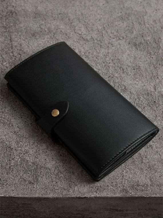 Equestrian Shield Leather Continental Wallet in Black - Women | Burberry United Kingdom - cell image 2