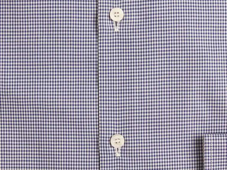Dark empire blue Slim Fit Gingham Cotton Poplin Shirt Dark Empire Blue - cell image 1