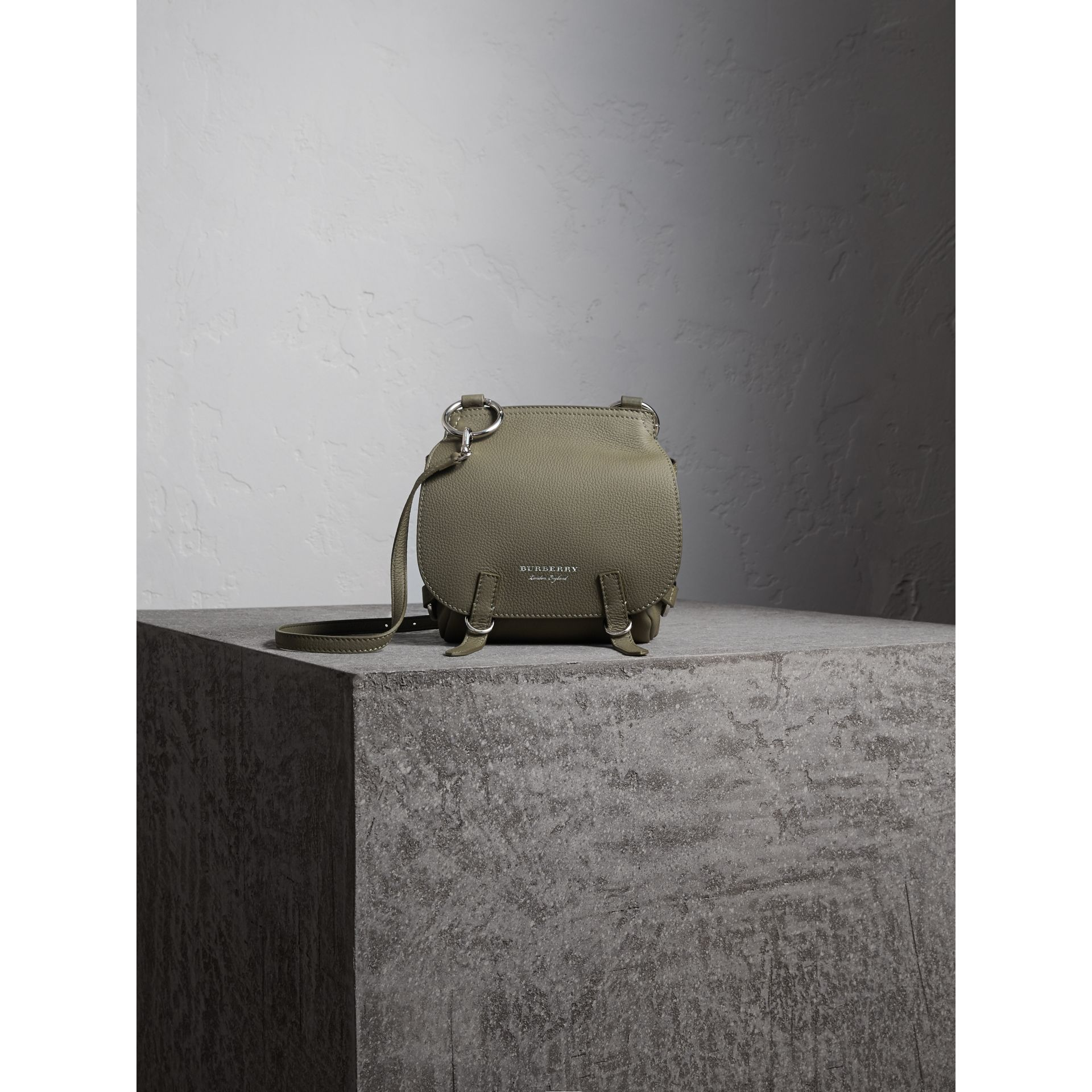 The Bridle Bag in Deerskin in Slate Green - Women | Burberry - gallery image 8