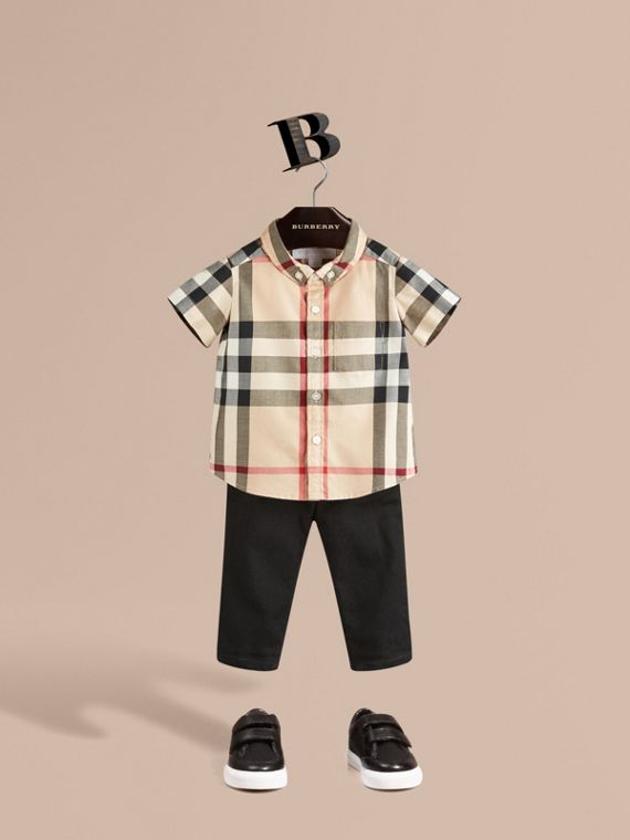 Check Cotton Twill Shirt in New Classic - Boy | Burberry Canada