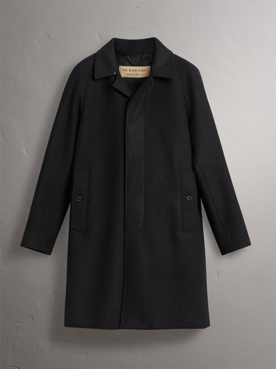 Cashmere Car Coat in Navy - Men | Burberry United Kingdom - cell image 3