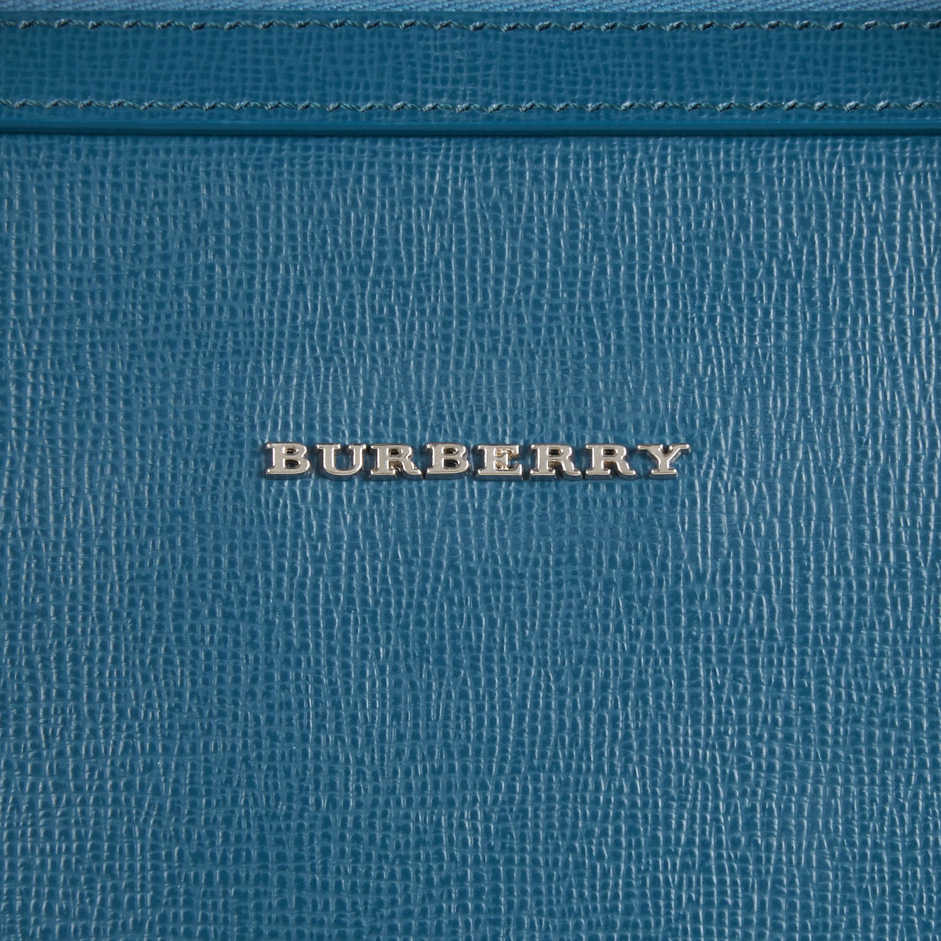 The Slim Barrow in London Leather in Mineral Blue - gallery image 2