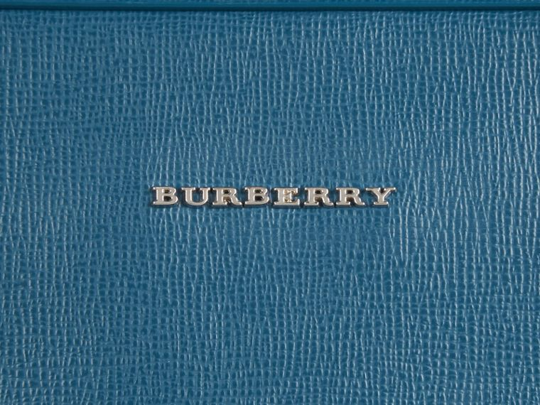 The Slim Barrow in London Leather in Mineral Blue - Men | Burberry - cell image 1