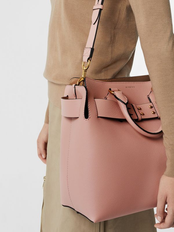 The Medium Leather Belt Bag in Ash Rose - Women | Burberry Australia - cell image 3