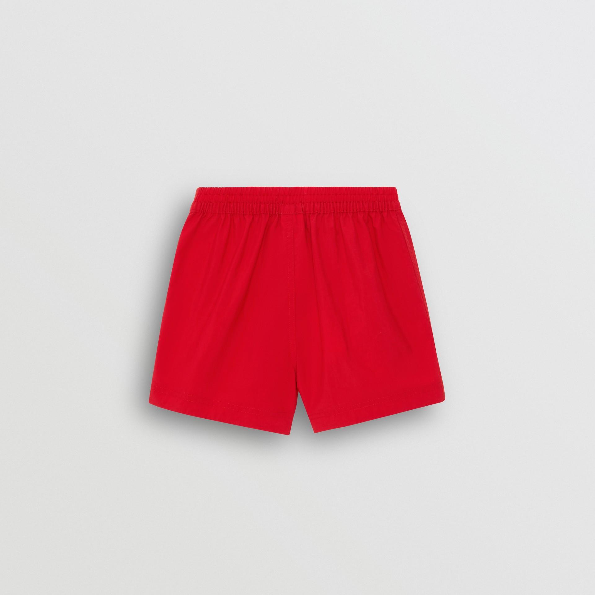 Short de bain avec cordon de serrage (Rouge Militaire) - Enfant | Burberry - photo de la galerie 3