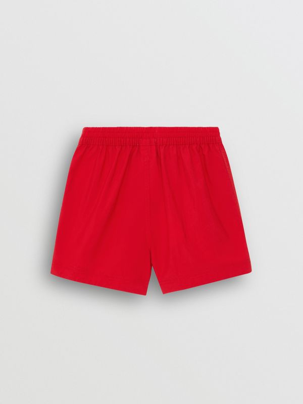 Drawcord Swim Shorts in Military Red - Children | Burberry - cell image 3