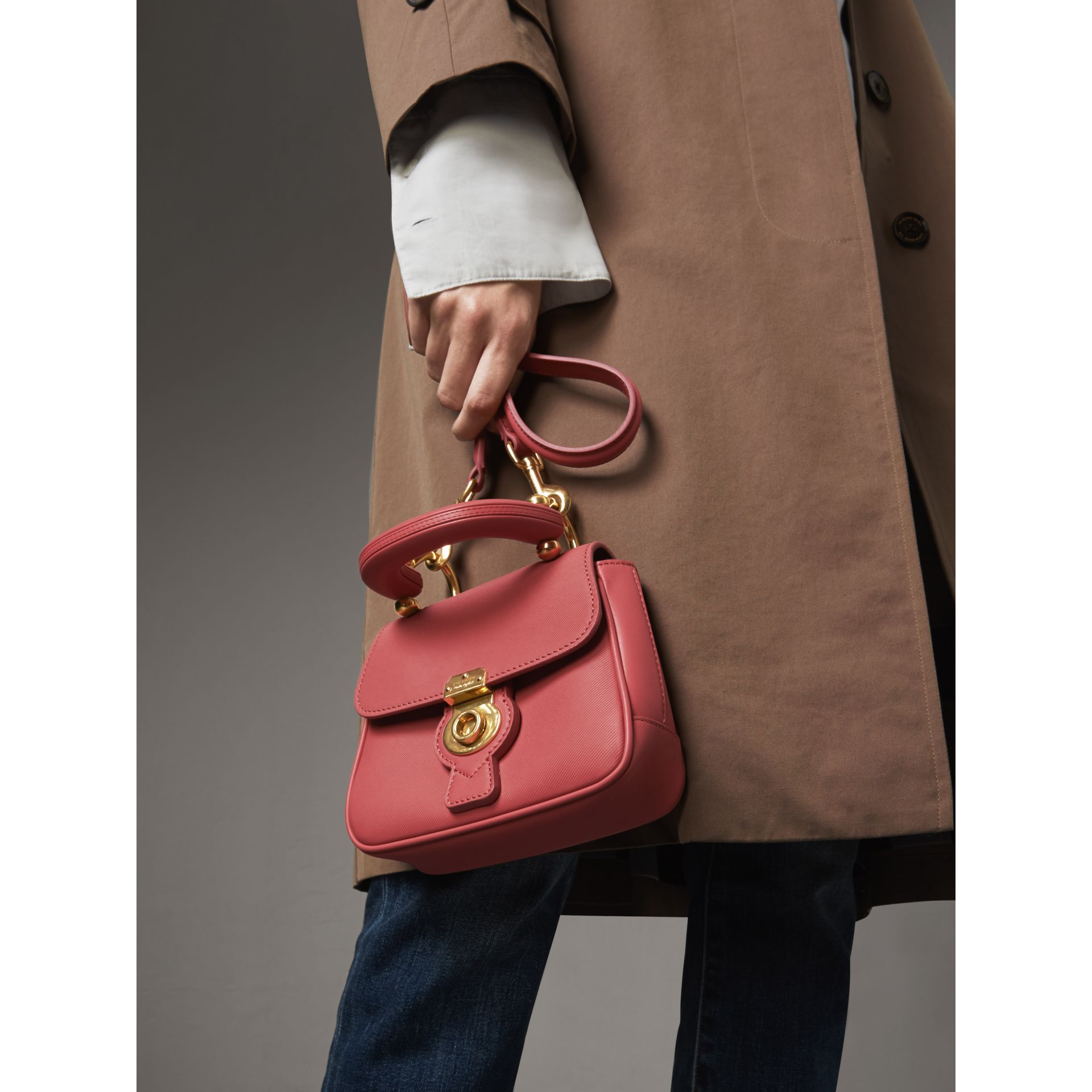 The Mini DK88 Top Handle Bag in Blossom Pink - Women | Burberry - gallery image 4