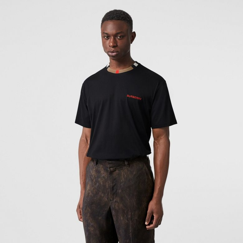 Burberry - T-shirt en coton à rayures iconiques - 5