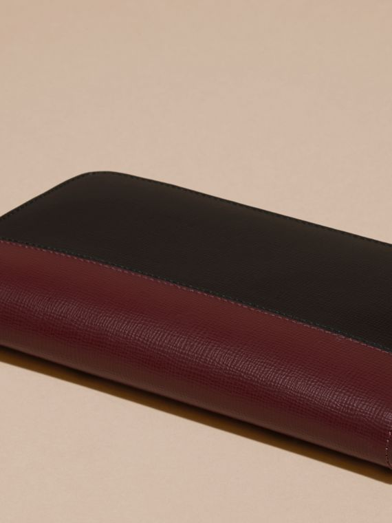 Wine/burgundy red Colour Block London Leather Ziparound Wallet Wine/burgundy Red - cell image 3
