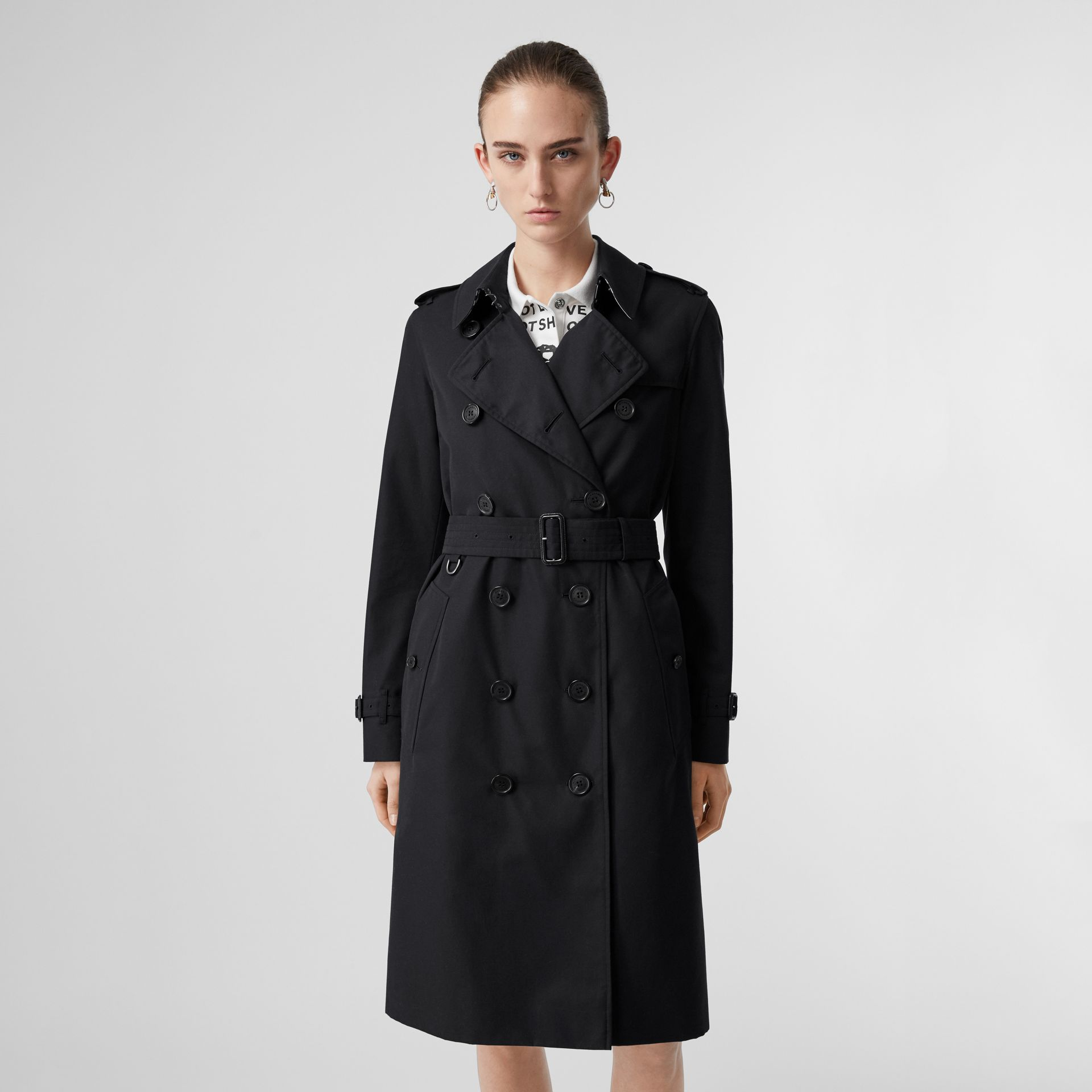 The Long Kensington Heritage Trench Coat in Midnight - Women | Burberry Canada - gallery image 0