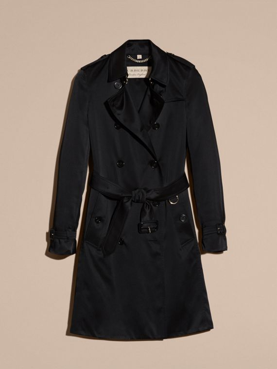 Black Silk Trench Coat - cell image 3