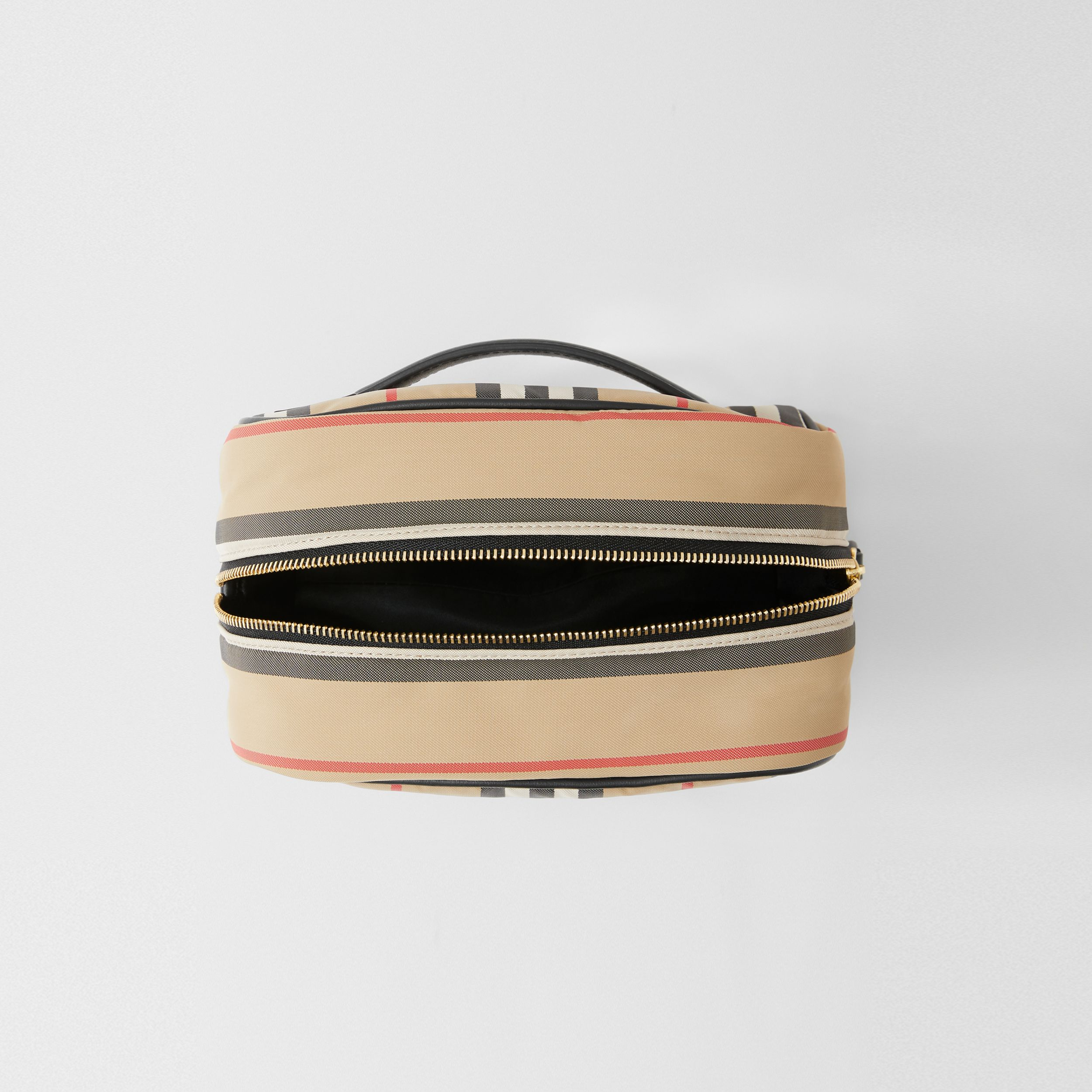 Small Icon Stripe ECONYL® Travel Pouch in Archive Beige - Women | Burberry - 4