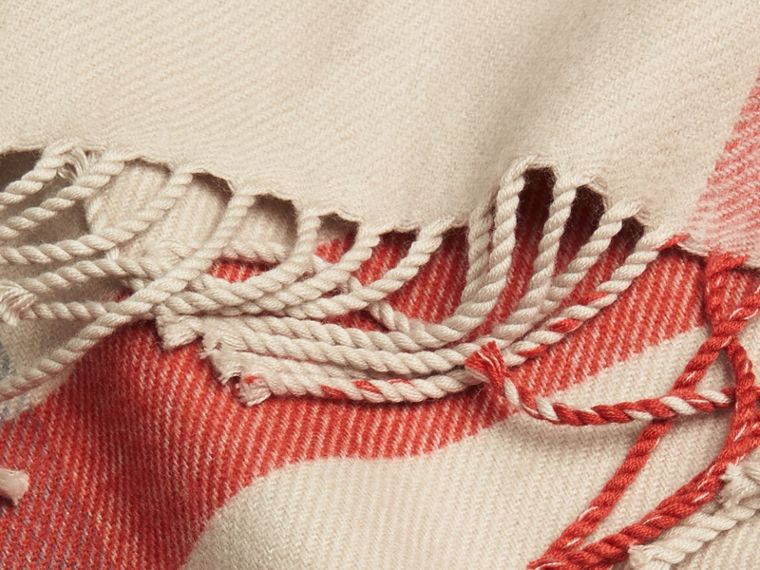 Check Merino Wool Baby Blanket in Stone | Burberry Australia - cell image 1