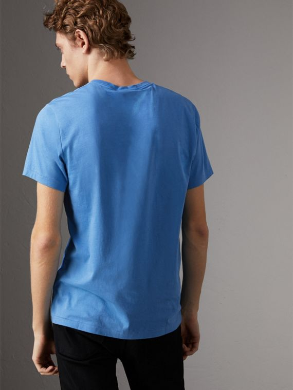 Cotton Jersey T-shirt in Light Azure - Men | Burberry United States - cell image 2