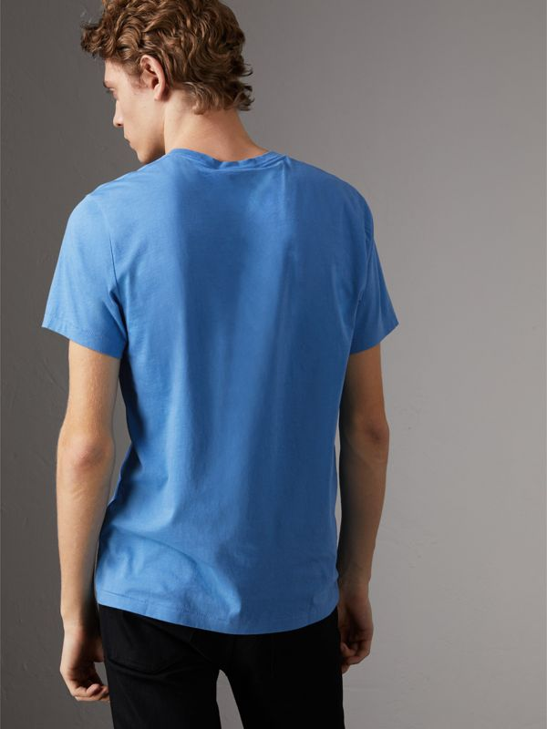 Cotton Jersey T-shirt in Light Azure - Men | Burberry - cell image 2