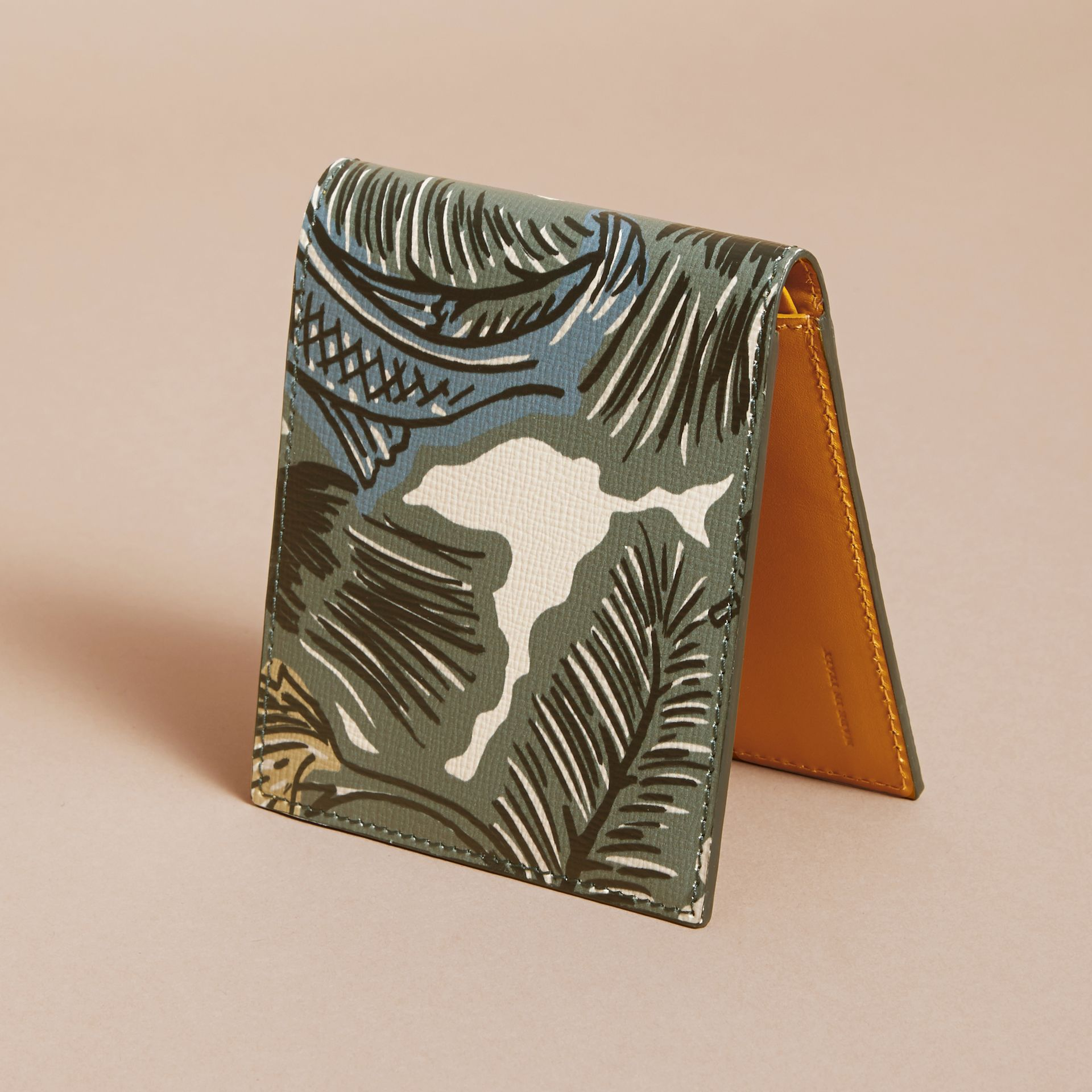 Beasts Print Leather Folding Wallet - gallery image 4
