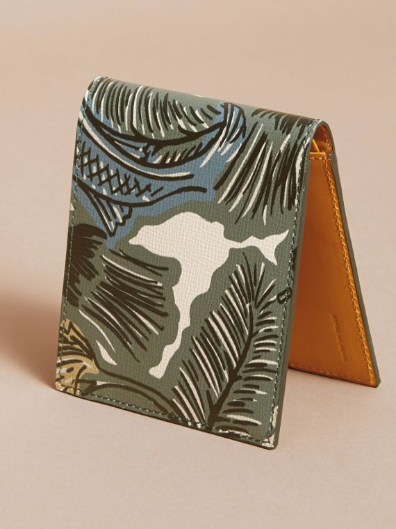 Beasts Print Leather Folding Wallet - cell image 3