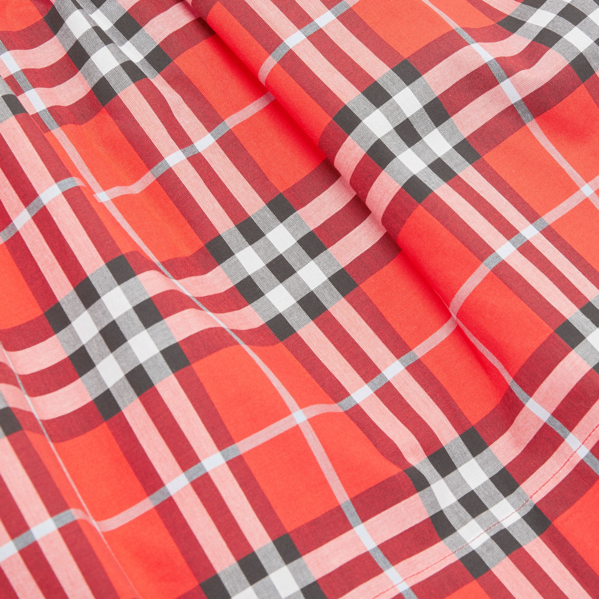 Vintage Check Cotton Dress in Orange Red | Burberry United Kingdom - gallery image 1