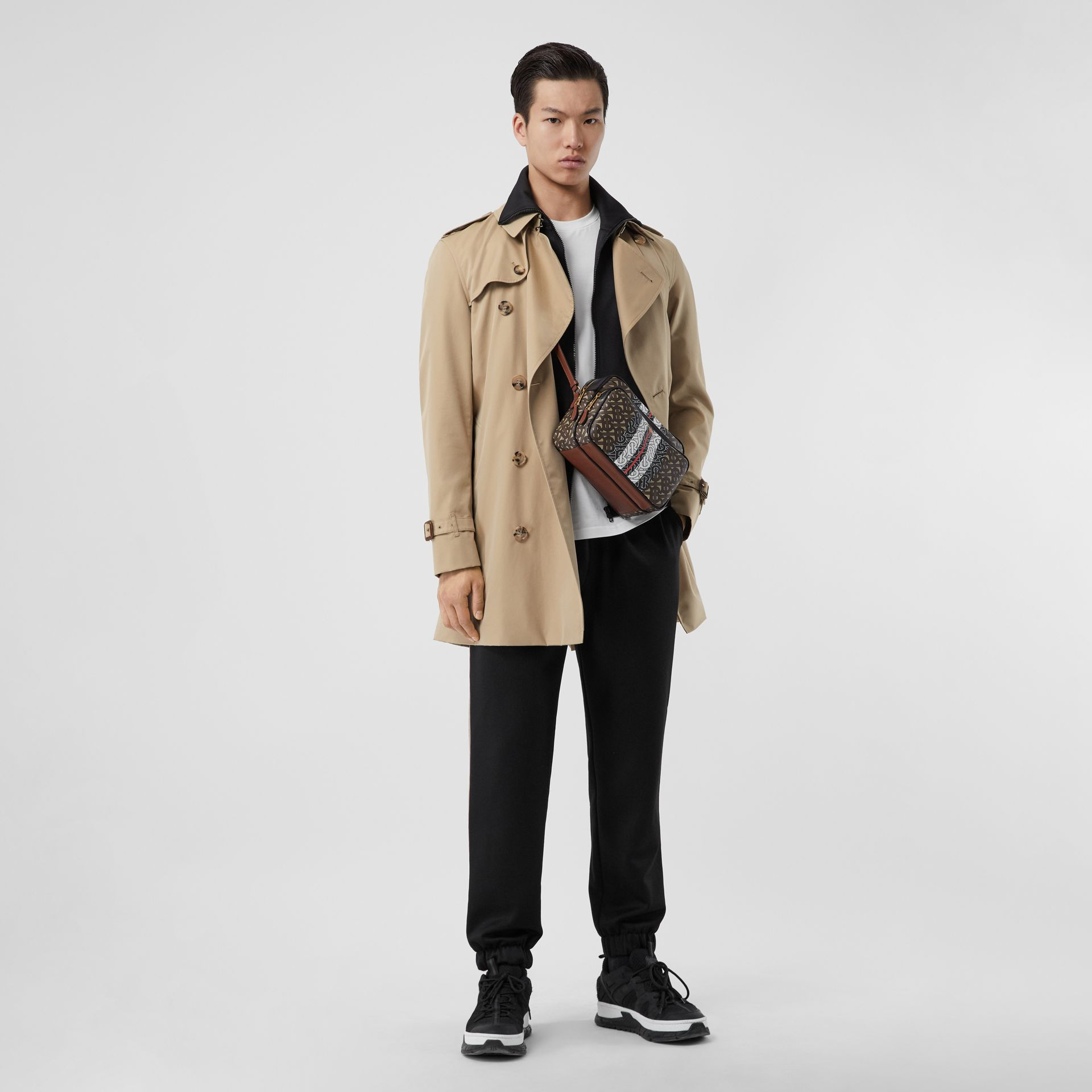 Cotton Gabardine Trench Coat in Honey - Men | Burberry Canada - gallery image 5