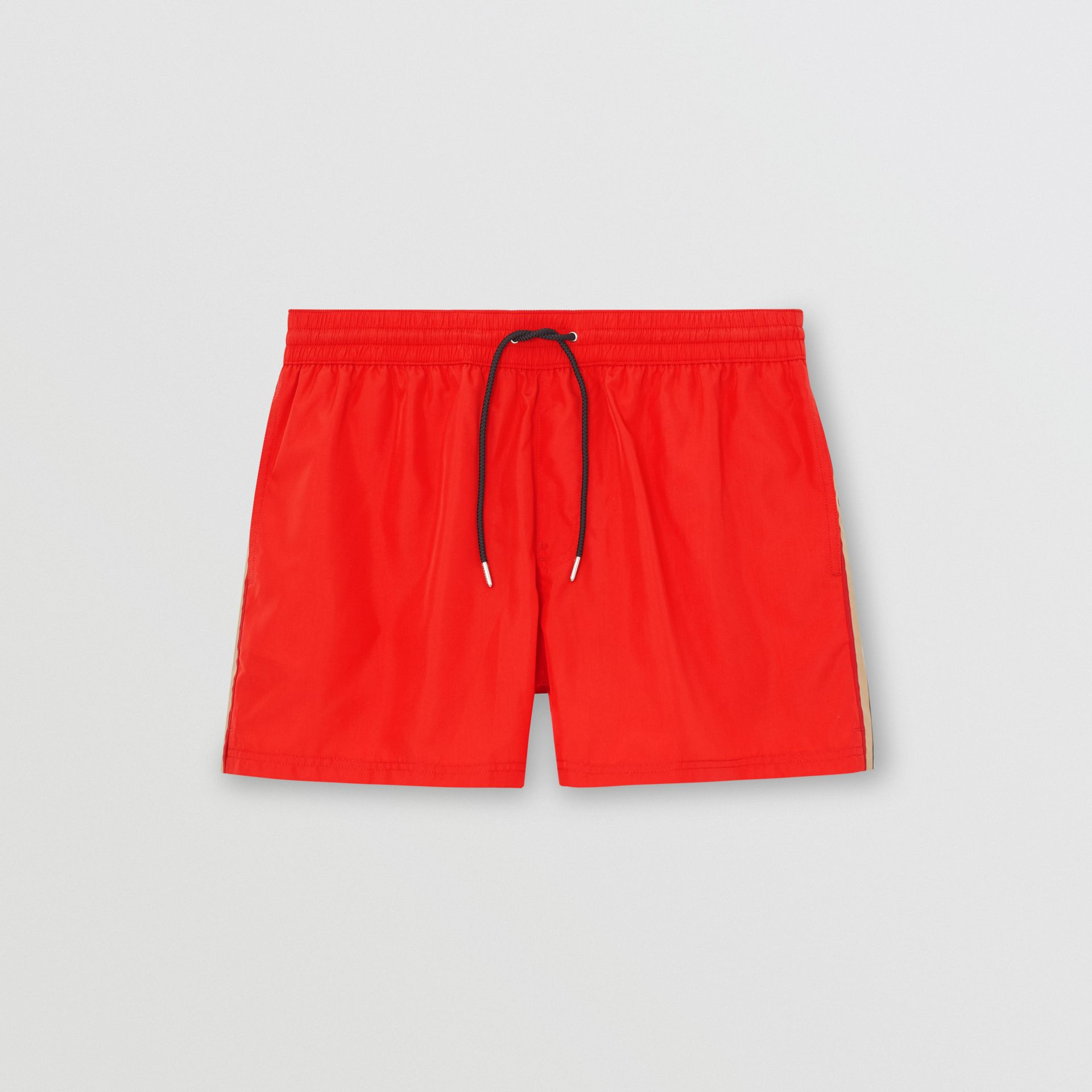 Icon Stripe Detail Drawcord Swim Shorts in Bright Red - Men | Burberry - gallery image 2