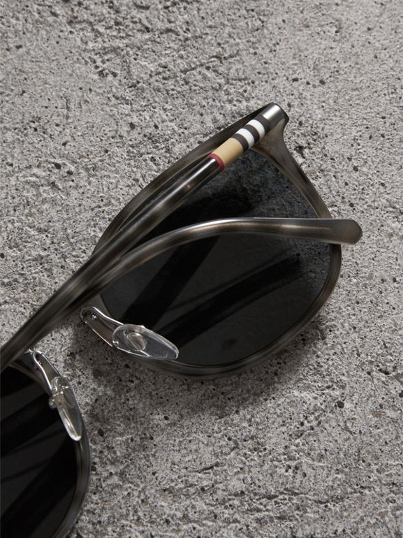 Square Frame Acetate Sunglasses in Grey - Men | Burberry United Kingdom - cell image 1