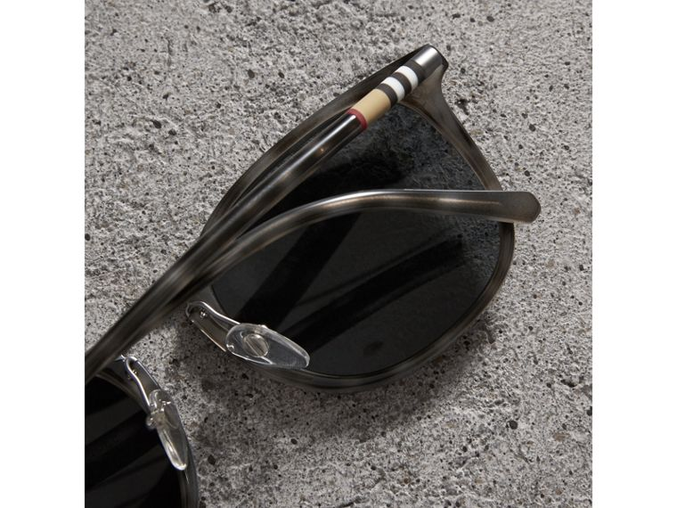 Square Frame Acetate Sunglasses in Grey - Men | Burberry - cell image 1