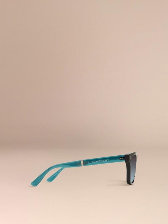 Black Foldable Rectangular Frame Sunglasses - cell image 3