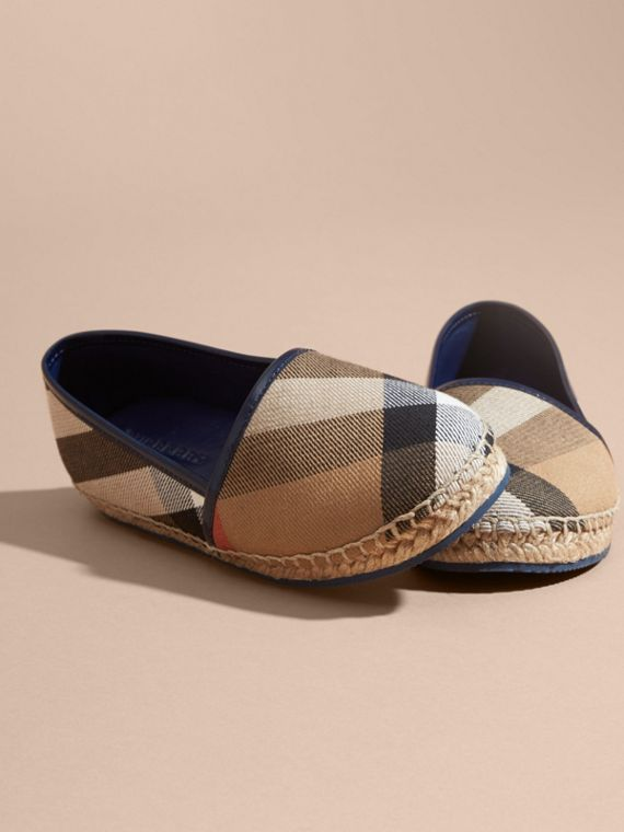 House Check Cotton Canvas Espadrilles Dark Sapphire - cell image 2