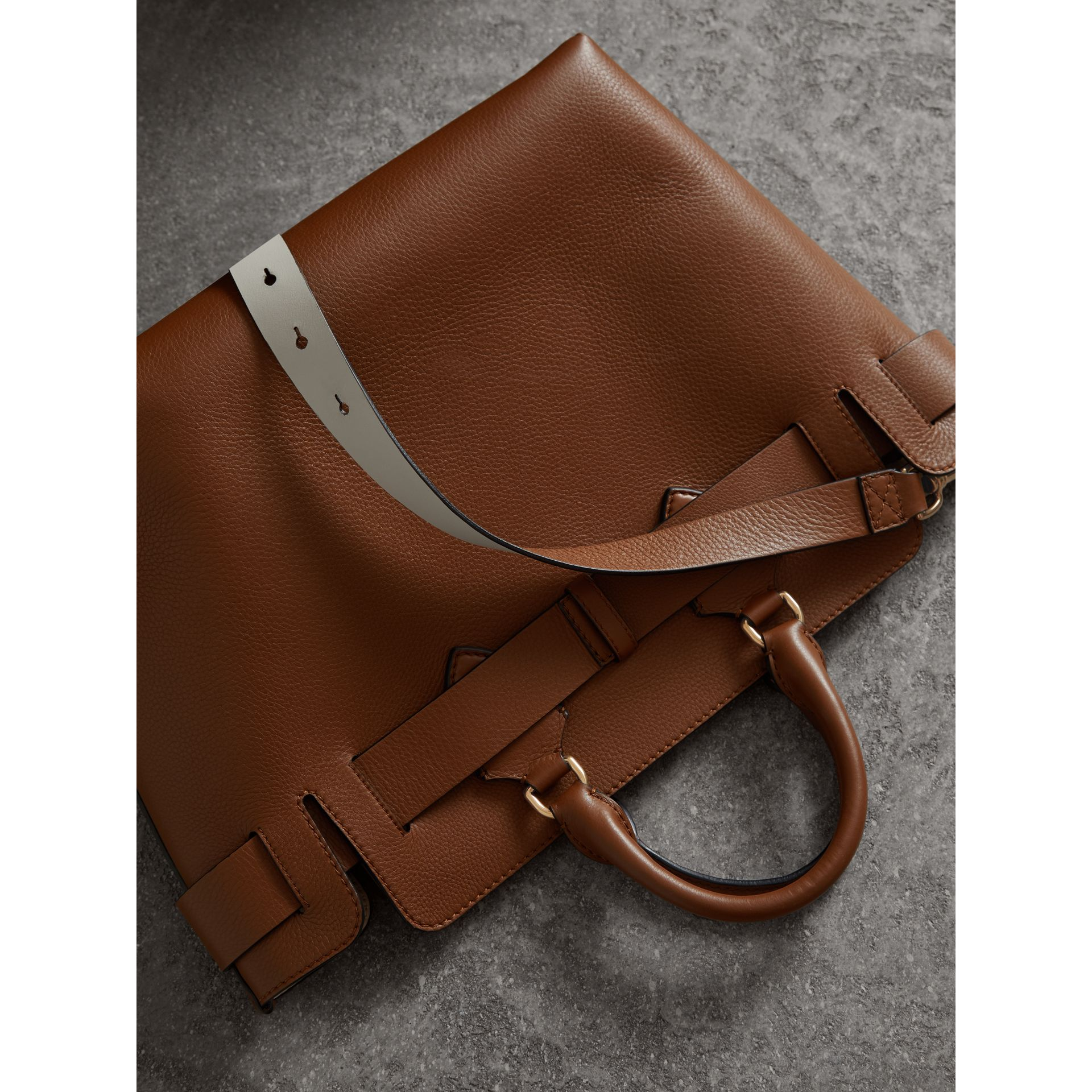 The Medium Leather Belt Bag in Tan - Women | Burberry - gallery image 4