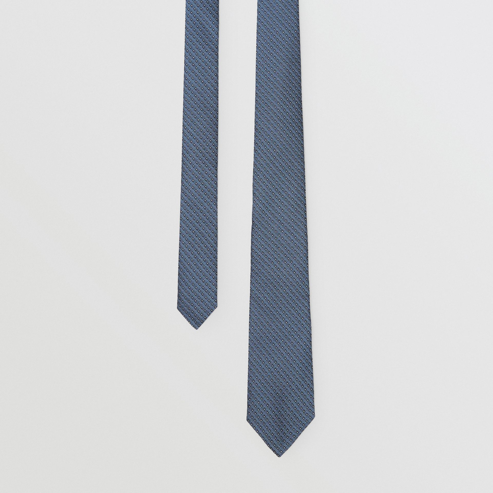 Classic Cut Micro Dot Silk Jacquard Tie in Porcelain Blue - Men | Burberry - gallery image 0