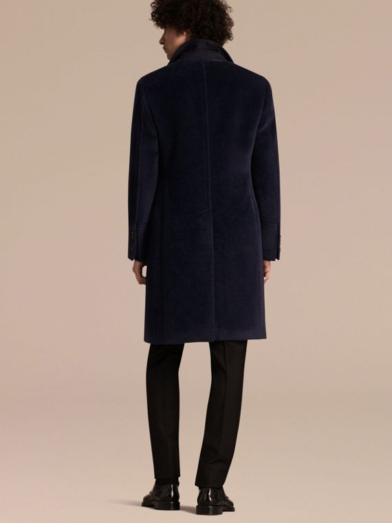 Navy black Alpaca Wool Overcoat - cell image 2
