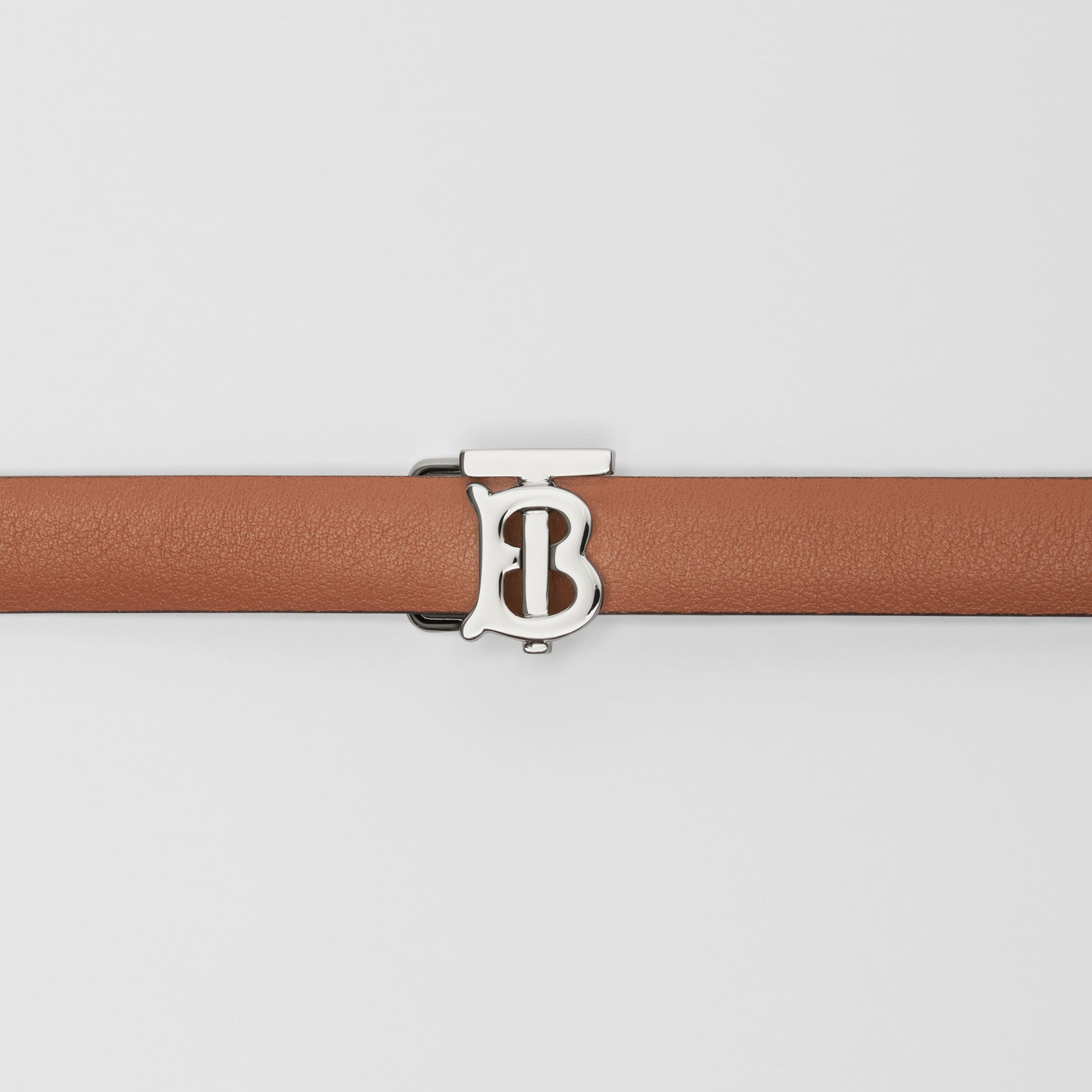 Reversible Monogram Motif Leather Wrap Belt in Malt Brown/black - Women | Burberry Australia - 2