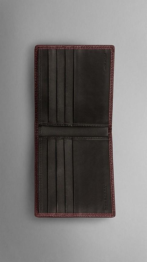 Deep claret London Leather Folding Wallet Deep Claret - Image 3