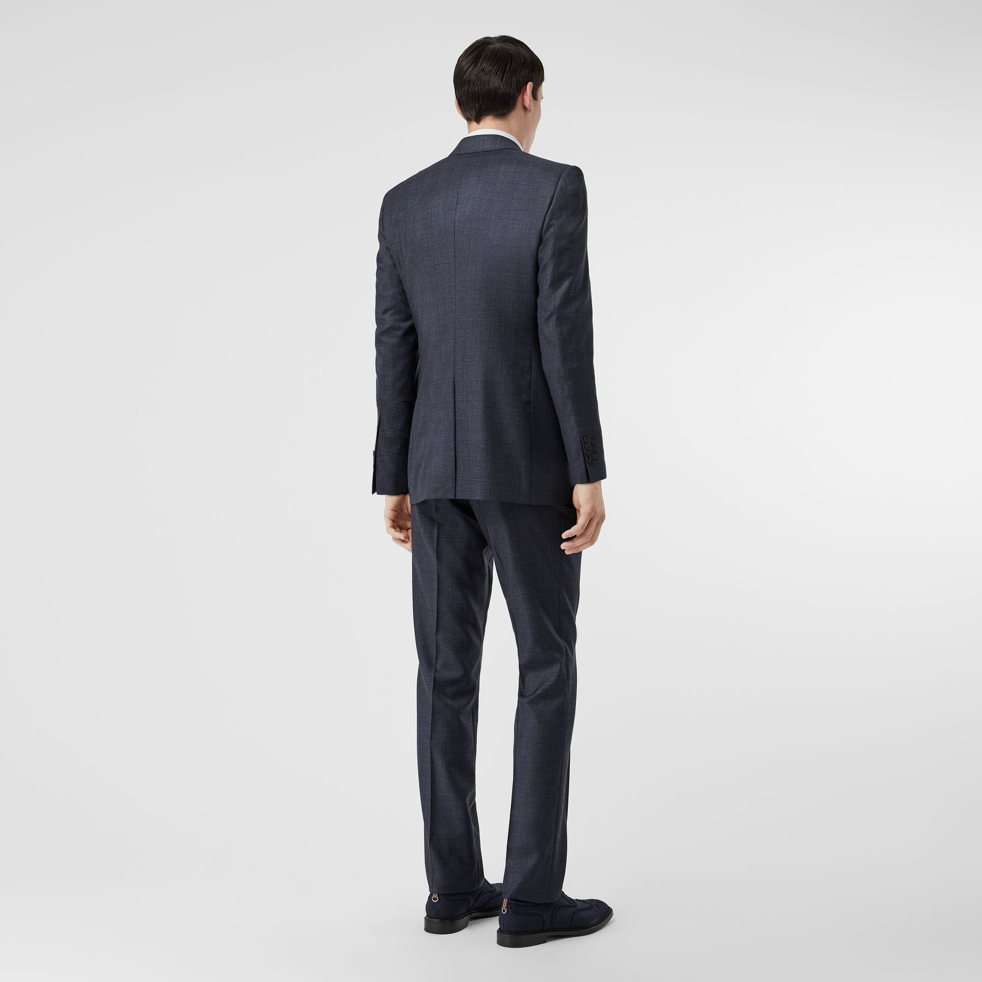 Classic Fit Check Wool Three-piece Suit in Steel Blue - Men | Burberry Singapore - gallery image 2