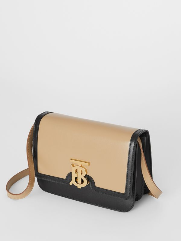 Borsa TB piccola in pelle bicolore (Miele/nero) - Donna | Burberry - cell image 3