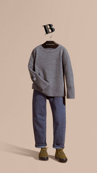 Check Elbow Patch Merino Wool Sweater
